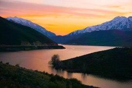 Deer Creek Reservoir Sunset
