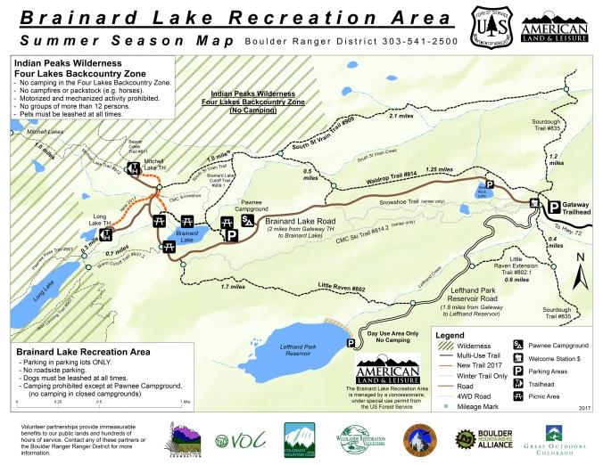 Brainard Lake trails